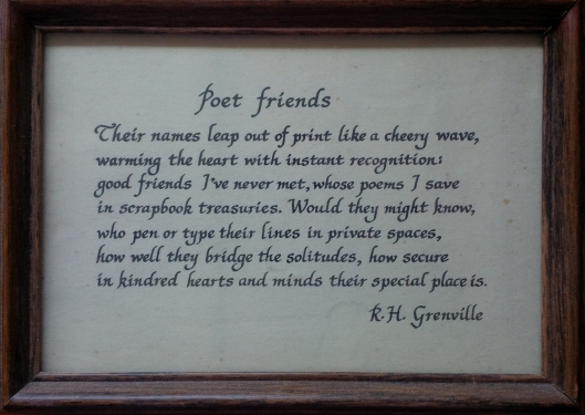 Grenville - poet friends