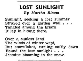 Bloom-Lost Sunlight