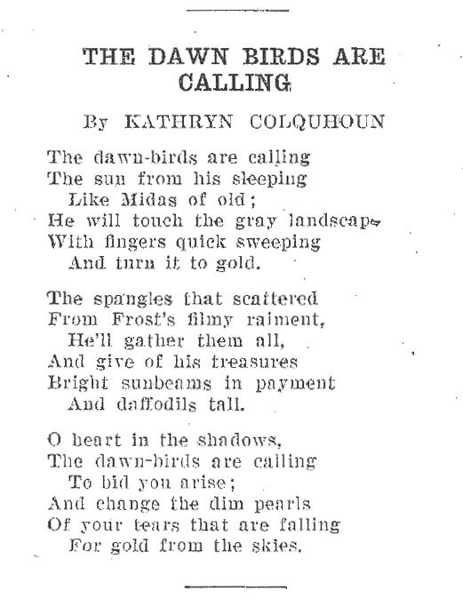 Colquhoun - Dawn Birds
